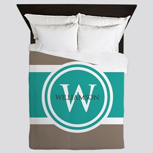 Custom Monogram Queen Duvet