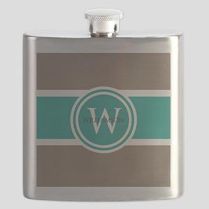 Custom Monogram Flask