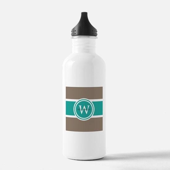 Custom Monogram Water Bottle