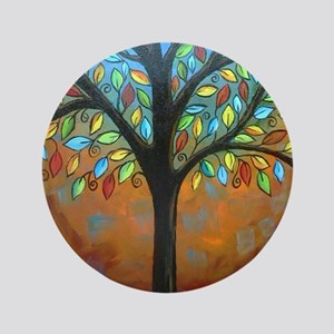 """Tree of Many Colors 3.5"""" Button"""
