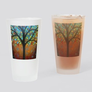 Tree of Many Colors Drinking Glass