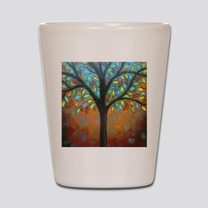 Tree of Many Colors Shot Glass