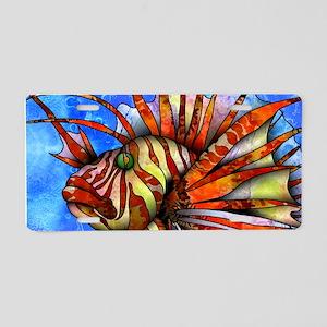 Orange Fish Aluminum License Plate