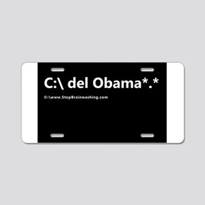 delete obama *.* Aluminum License Plate