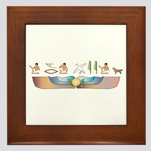 Retriever Hieroglyphs Framed Tile
