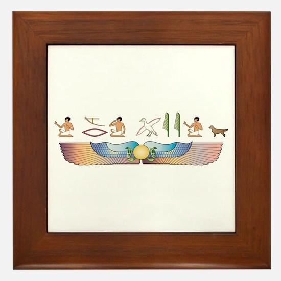 Retriever Hieroglyphs Framed Tile