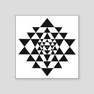 "Sri Yantra Square Sticker 3"" x 3"""