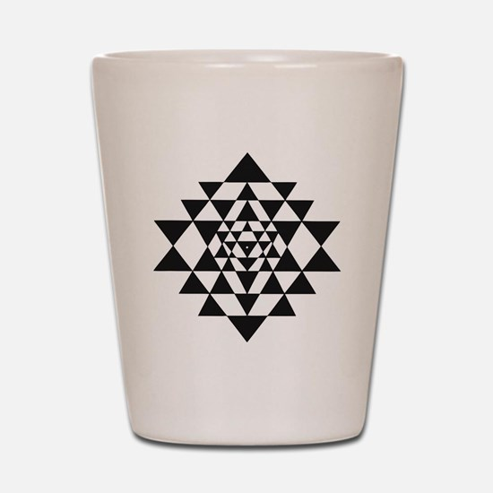 Sri Yantra Shot Glass