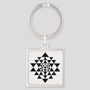 Sri Yantra Square Keychain