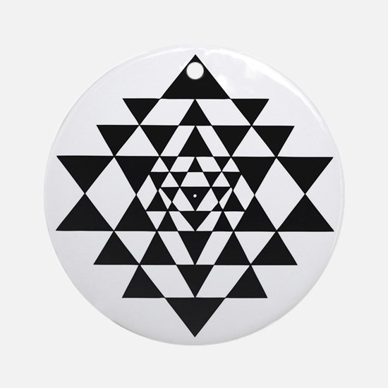 Sri Yantra Round Ornament