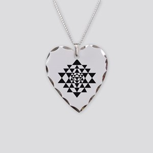 Sri Yantra Necklace Heart Charm