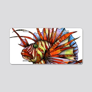 Orange Fish Aluminum License Plate