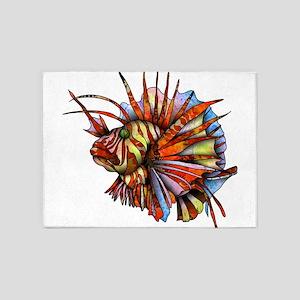 Orange Fish 5'x7'Area Rug