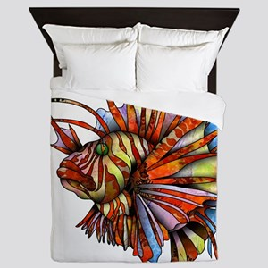 Orange Fish Queen Duvet
