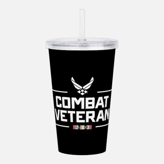 USAF Combat Veteran Acrylic Double-wall Tumbler