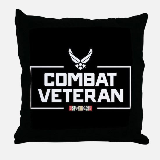 USAF Combat Veteran Throw Pillow