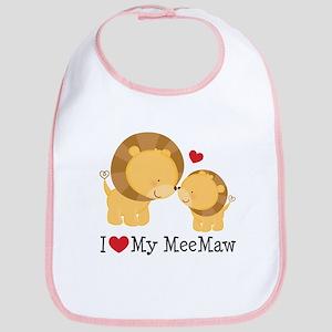 I Love MeeMaw Bib