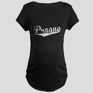 Prague, Retro, Maternity T-Shirt