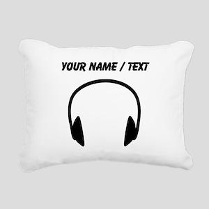Custom Headphones Rectangular Canvas Pillow