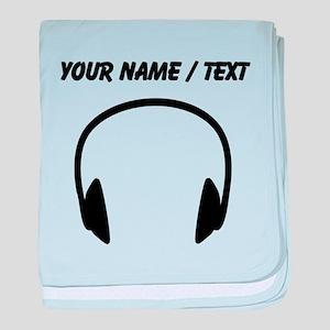 Custom Headphones baby blanket