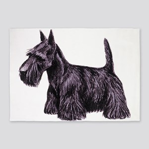 Scottish Terrier 5'x7'Area Rug