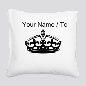 Custom Crown Square Canvas Pillow