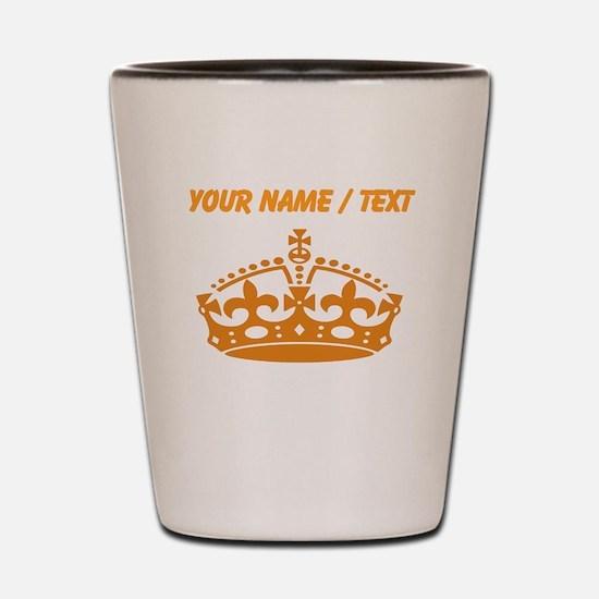 Custom Orange Crown Shot Glass