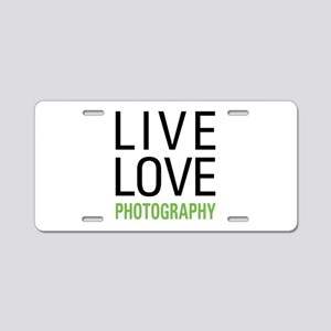 Photography Aluminum License Plate
