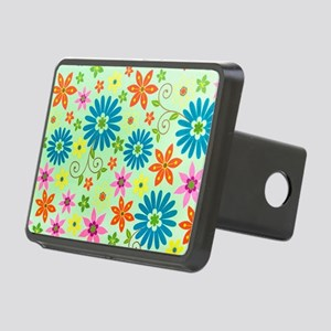 Flowers Background Rectangular Hitch Cover