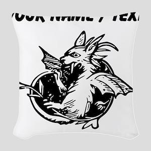 Custom Dragon Woven Throw Pillow