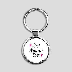 Best Nonna Ever Round Keychain