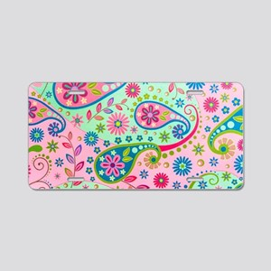 Psychedelic Background Aluminum License Plate