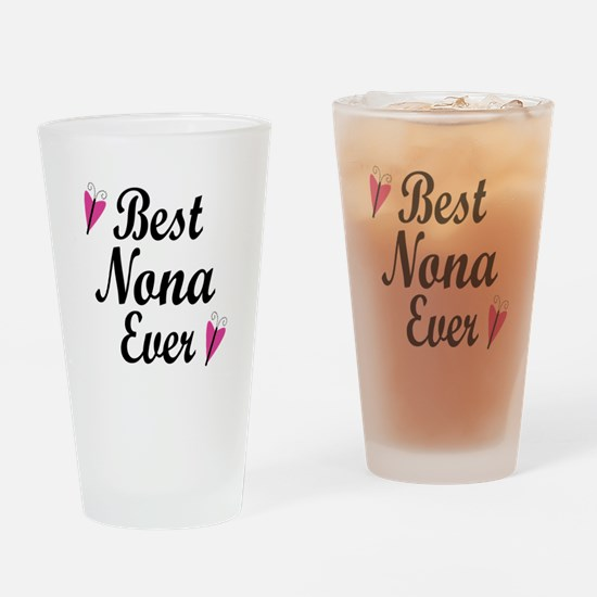 Best Nona Ever Drinking Glass