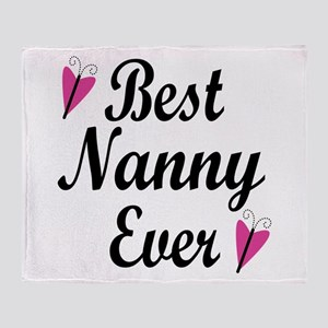 Best Nanny Ever Throw Blanket