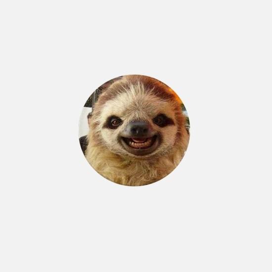 Smiling Sloth Mini Button