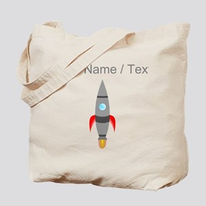 Custom Rocket Ship Tote Bag