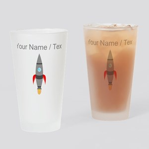 Custom Rocket Ship Drinking Glass