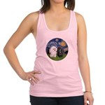 Starry / Poodle (White) Racerback Tank Top