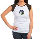 Starry / Poodle (White) Women's Cap Sleeve T-Shirt