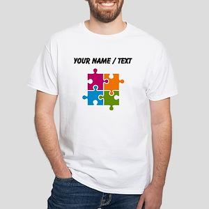 Custom Puzzle Pieces T-Shirt