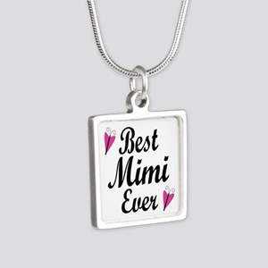 Best Mimi Ever Silver Square Necklace