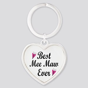 Best Mee Maw Ever Heart Keychain