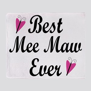 Best Mee Maw Ever Throw Blanket