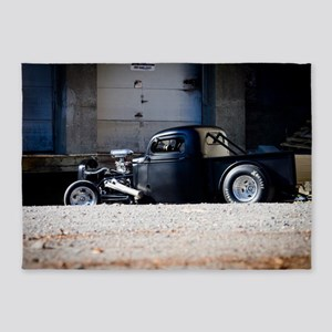 Hot Rod truck 5'x7'Area Rug