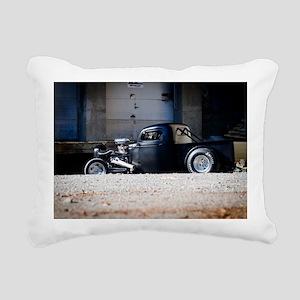 Hot Rod truck Rectangular Canvas Pillow