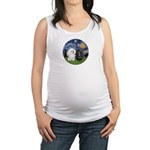 Starry-Two Poodles (Min) Maternity Tank Top