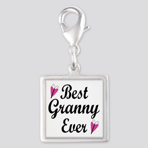 Best Granny Ever Silver Square Charm