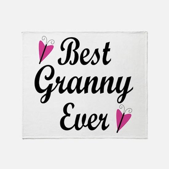 Best Granny Ever Throw Blanket