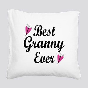 Best Granny Ever Square Canvas Pillow