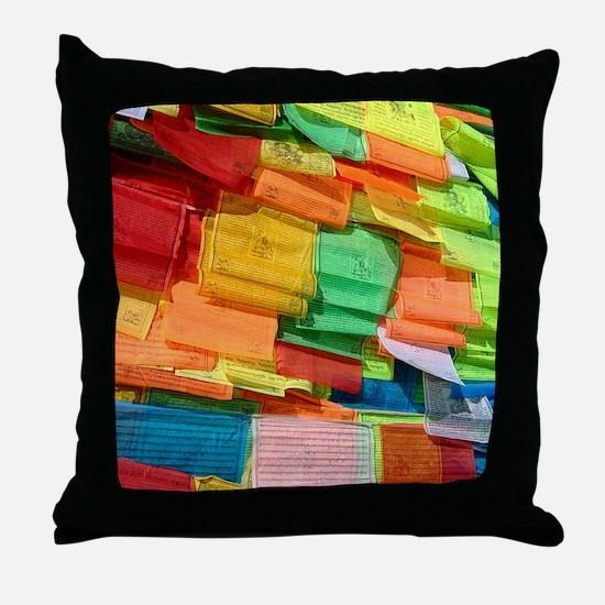 Prayer Flags-Everest-10x10 Throw Pillow